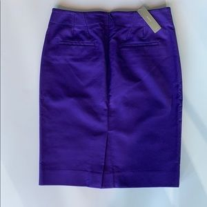 J Crew Purple Violet Pencil Skirt Size 4